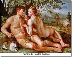 Adam and Eve - 14 - Hendrik Goltzius
