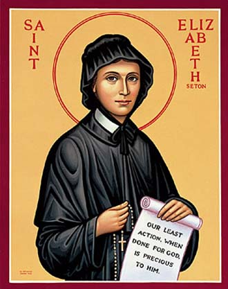 Saint Elizabeth Ann Bayley Seton, Foundress of the Sisters of Charity of Saint Joseph's (1774-1821) (Source: dailygospel.org)