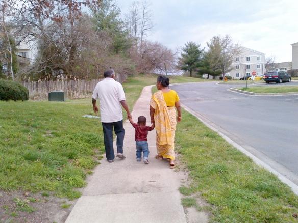 A walk with our grandson Rohan - 15 wm adj