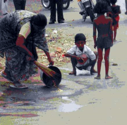Excreting in India