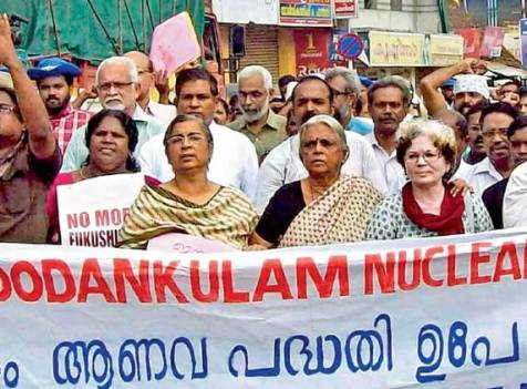 Kerala-Kudankulam march led by Sugathakumari, Sara Joseph and K Ajitha.