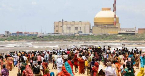 Antinuclear Protesters at Kudankulam