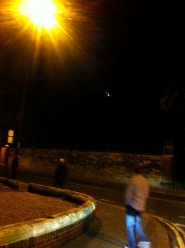 This photo of Meteor or Space Junk taken from Tyneside by a taxi driver!!