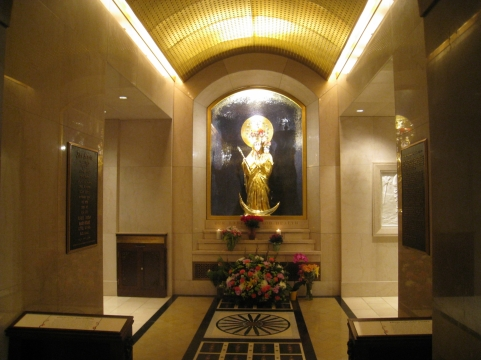 The Oratory of Our Lady of Good Health, Vailankanni, at the Basilica of the National Shrine of the Immaculate Conception in Washington, DC.