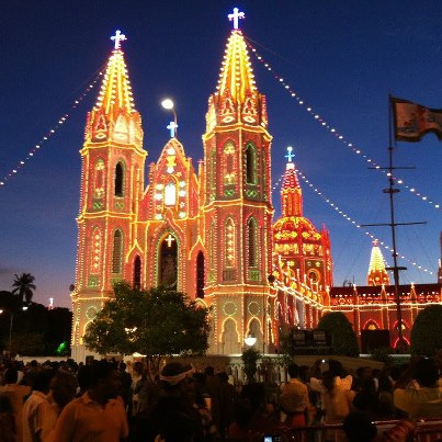 Shrine Basilica of Our Lady of Health, Velankanni. Photo: J.T. Leo Fernando