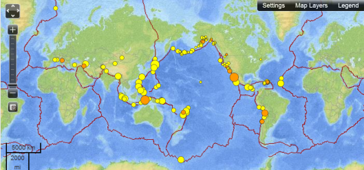 Earthquakes - October 8, 2012