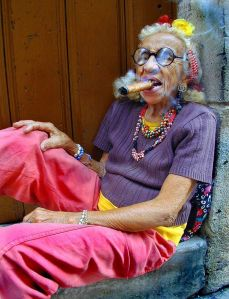 Old lady with cigar