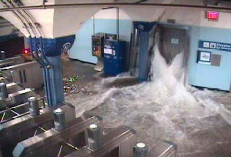 Subway floods
