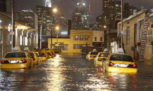 Taxis under water
