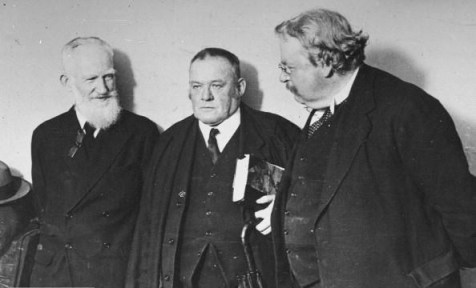 George Bernard Shaw, Hilaire Belloc, and G.K.Chesterton