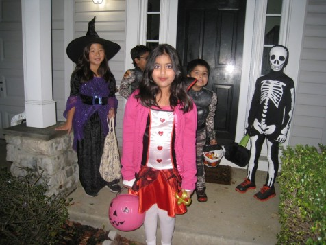 A Witch, Maid, Imps, and a Skeleton