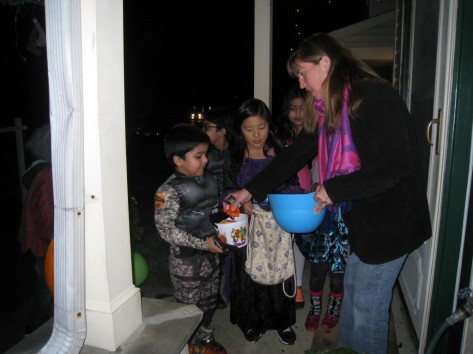Trick or Treating (Photo: T.V. Antony Raj)