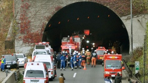 Japan Road Tunnel Collapse