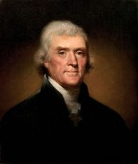 Thomas Jefferson Painted by Rembrandt Peale, 1800
