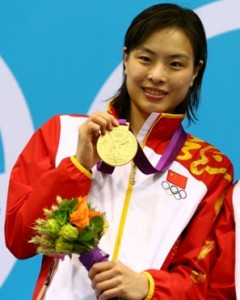 Wu Minxia of China - took the gold in the 3-meter synchronized springboard event at the London Olympics
