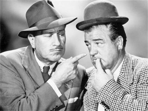 bud abbott and lou costello a This is where bud abbott learned and polished his straight man act, learning from every one that he could during the 1930's, bud met lou costello at this time, costello was a rising comic and they teamed up in 1936, performing in cinemas, minstrel shows, and vaudeville.