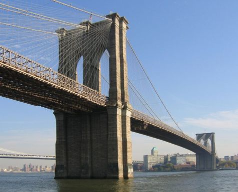 The Brooklyn Bridge, viewed from Manhattan (Photo - Postdlf at the English language Wikipedia)
