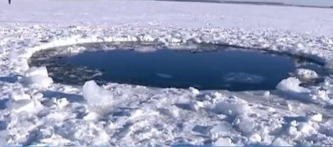 Russia's Lake Chebarkul meteorite crater
