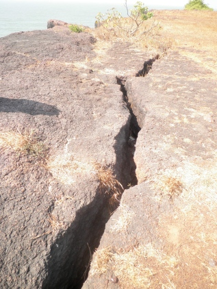 The Reality at Jaitapur - Crack in rock