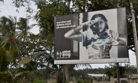 UNICEF campaign for the disarmament of (female) child soldiers in Sri Lanka