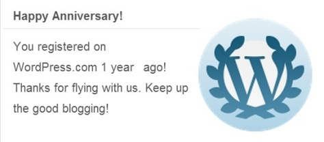 Wordpress - Happy Anniversary