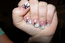 nail extensions with nail art (Photo credit: nailsbylisa)