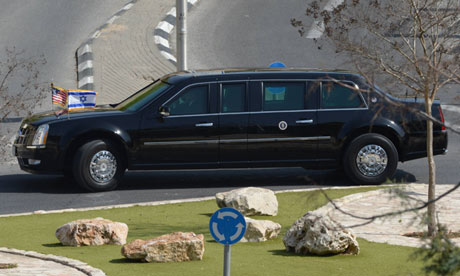 President Obama's limousine. Photograph- Handout/GPO via Getty Iimages