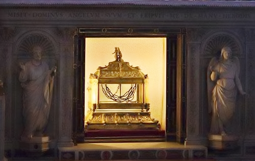 Saint Peter's chains in Rome