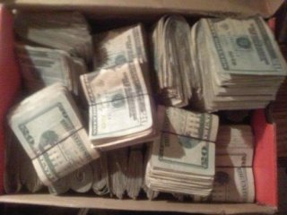 Shoebox with money