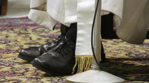 The shoes of Pope Francis