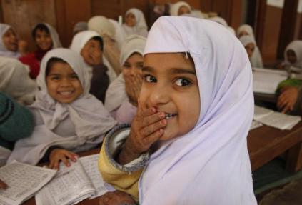 A Muslim girl in a classroom. (Photo - A.M. Faruqui-The Hindu)