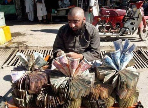 Afghan monkey merchant