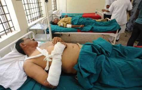 Banglore Blast - Injured policemen - 2