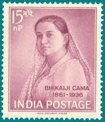 MadamE Bhikaiji Cama Postage Stamp