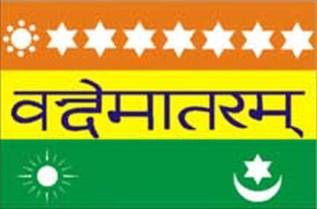 Madame Bhikhaiji Rustom Cama's Saptarishi flag.