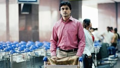 An Indian returning at the airport