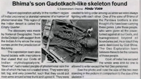 Bhima's son Gadotkach-like skeleton found - 2