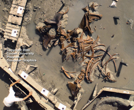 Canadian artist IronKite used this mastodon-excavation photo taken in 2000 in Hyde Park, New York as the basis for his entry in an online photo-manipulation contest