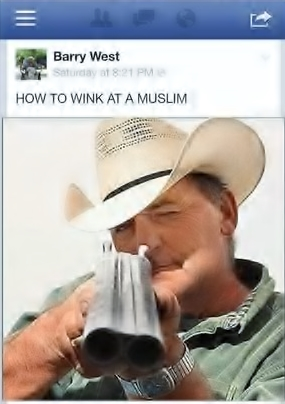 How to wink at a Muslim