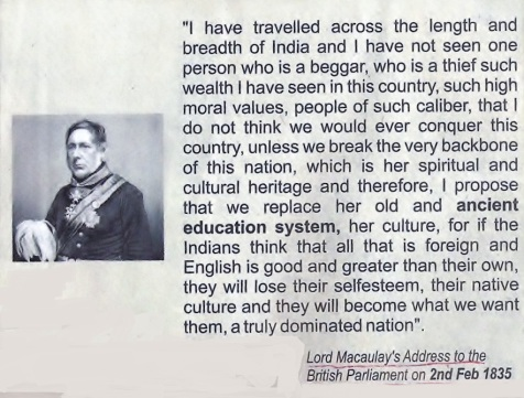 Lord Macaulay's Address to the British Parliament on February 2, 1835