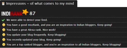 IndiRank - August 18, 2013