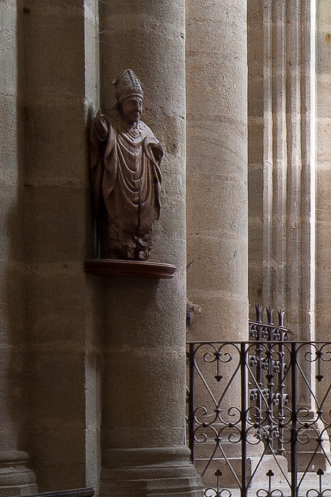 Statue of Saint Menoux, Église Saint Menoux, Saint Menoux (Allier). (Photo: Dennis Aubrey)