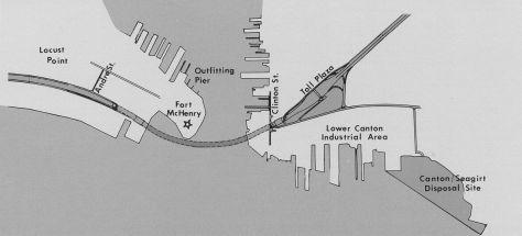 Plan View of Fort McHenry Tunnel Area