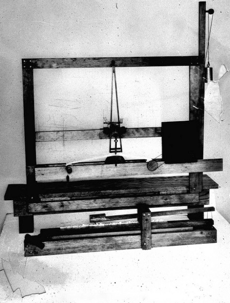 Replica of Morse's first telegraph instrument.