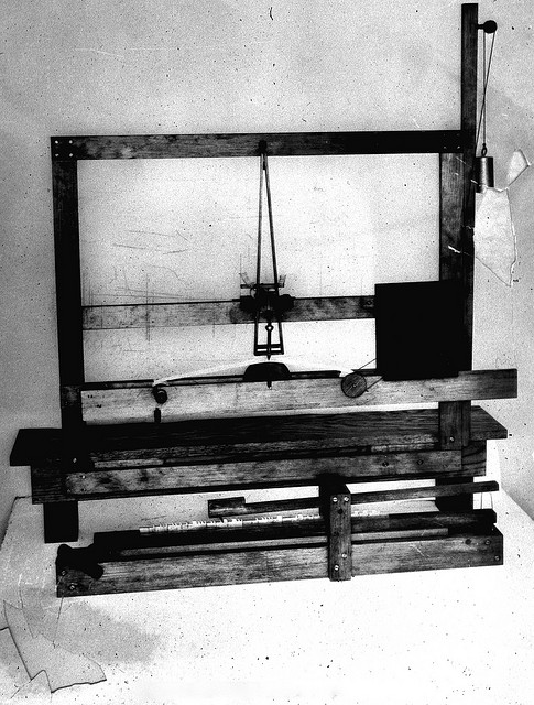 Replica of Morse's first telegraph instrument.