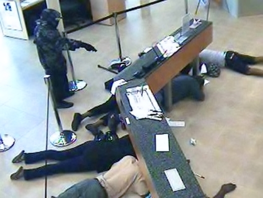 There was this bank robbery in Guangzhou