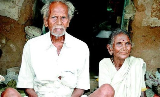 World's oldest living man Rangasamy Gounder with his wife Sadachi Ammal