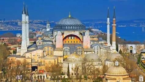 Hagia Sophia, a former Greek Orthodox patriarchal basilica, later an imperial mosque, and now a museum in Istanbul, Turkey.
