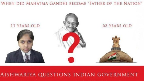 When did Mahatma Gandhi become the 'Father of the Nation'