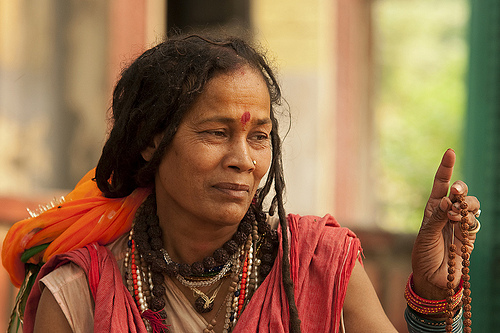 A female Shiva sadhu (sadhvi) in Haridwar, India. (Photo: Brett Davies, 2010)